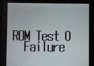 ROM Test 0 Faulure